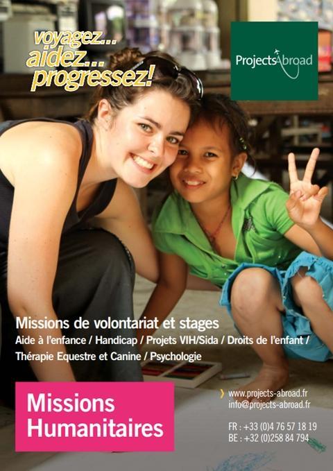 du dépliant Missions Humanitaires