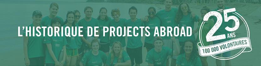 L'histoire de Projects Abroad et de 25 ans de volontarait international