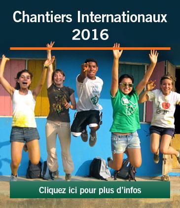 Chantiers internationaux 2016