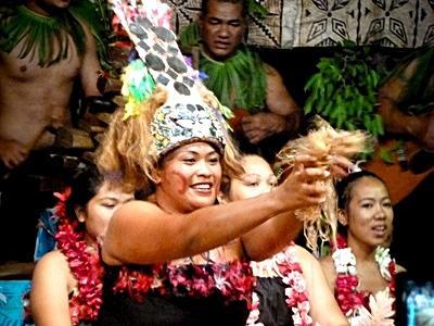 Samoans lors d'une fête locale