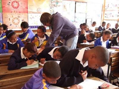 Alphabétisation des enfants en Afrique du Sud
