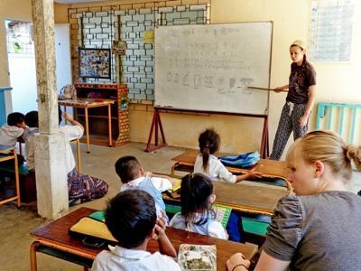 Enseignante volontaire à Phnom Penh