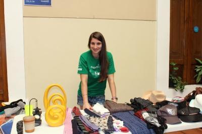Une volontaire durant sa mission en accompagnement de projets