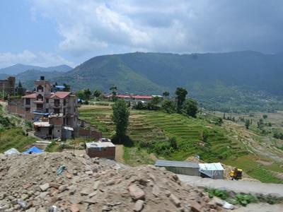 Vue du village de Bungamati, Népal