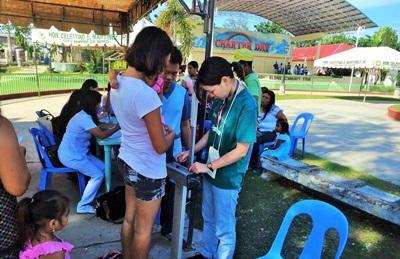 Volontaires en projet santé publique aux Philippines