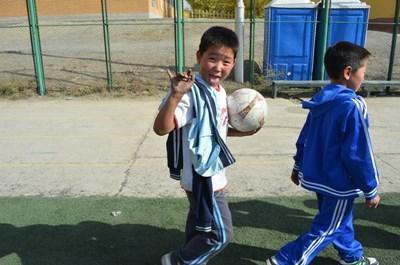 School sports coaching in Mongolia