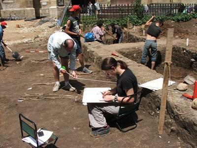 Chantier fouilles archéologiques Roumanie