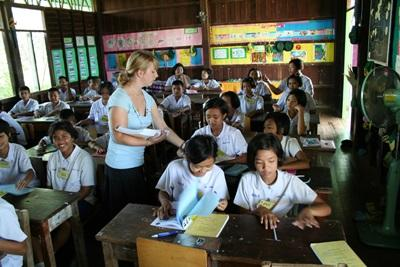 Enseignante Humanitaire en Asie