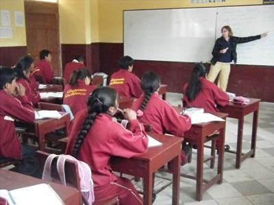 Action humanitaire enseignement Pérou