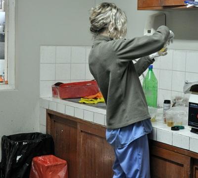 Volontaire du projet nutrition au Pérou