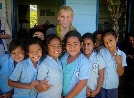 Aide humanitaire bénévole aux îles Samoa
