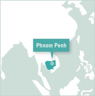 Carte des missions de volontariat au Cambodge