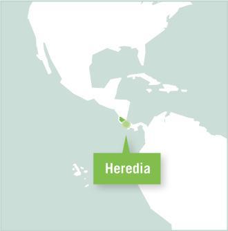 Carte des missions de volontariat au Costa Rica