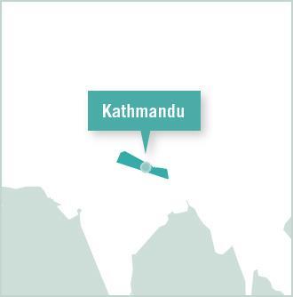 Carte des missions de volontariat au Népal