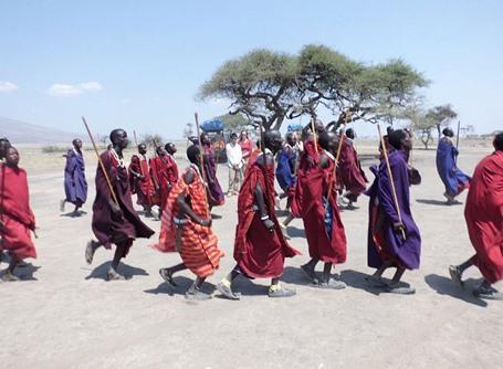 Tribu Massaï en Tanzanie, Afrique.