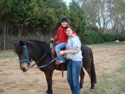 Exercice de montage de cheval